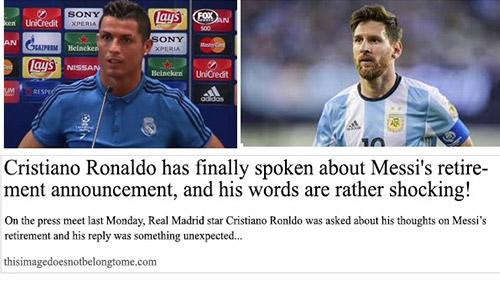 Ronaldo about Messi