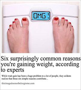 reasons you're gaining weight
