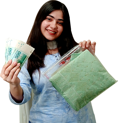 Girl Collecting Parcel