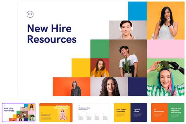 Modern New Hire Resources Company Presentation