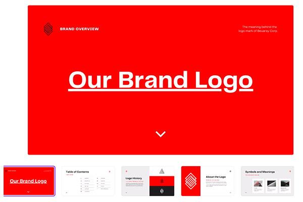 Modern Company Brand Logo Guidelines