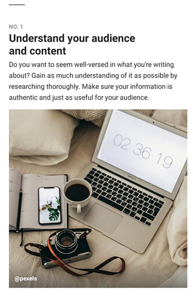 Understand Your Audience & Content